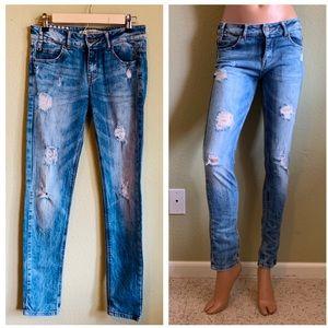ZARA Slim Distressed Premium Wash Jeans